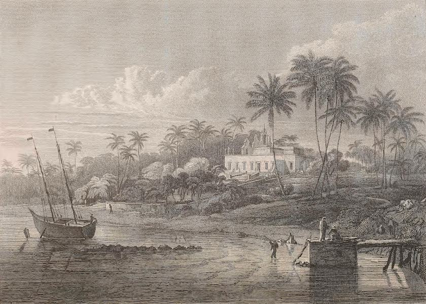 A Voyage to Abyssinia - View of the Government House at Mesuril (1814)