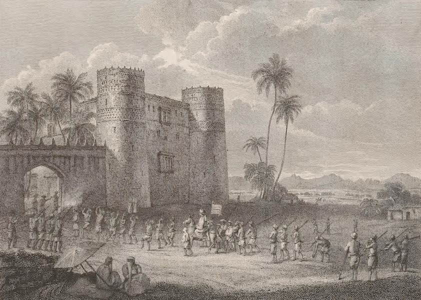 A Voyage to Abyssinia - Castle of the Sultaun of Aden at Lahadj (1814)