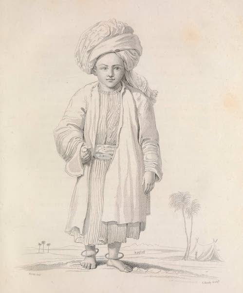 A Voyage to Abyssinia - An Arabian Child Dressed in his Holiday Suit (1814)