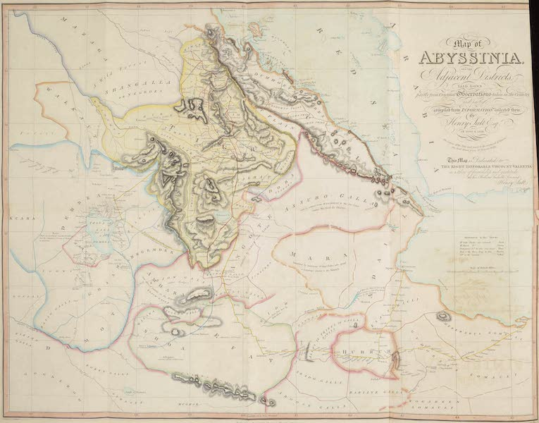 A Voyage to Abyssinia - Map of Abyssinia (1814)