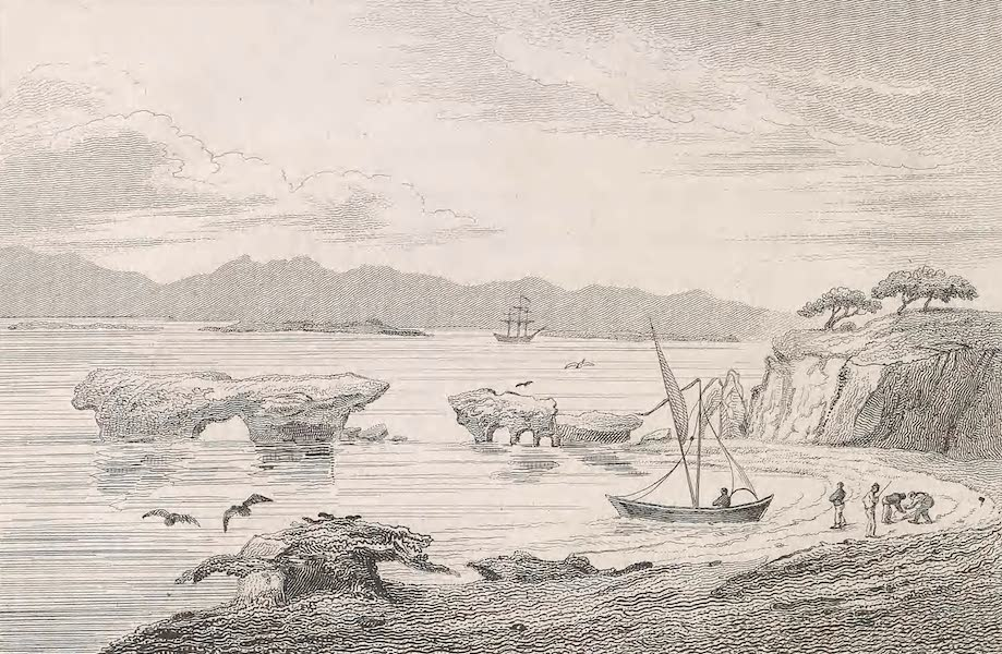 A Voyage to Abyssinia - Sketch of the Rocky Coast of One of the Islands of Amphilia (1814)