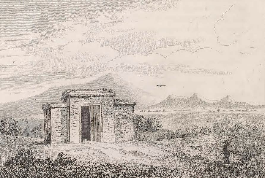 A Voyage to Abyssinia - Sketch of a Building in Avergale (1814)