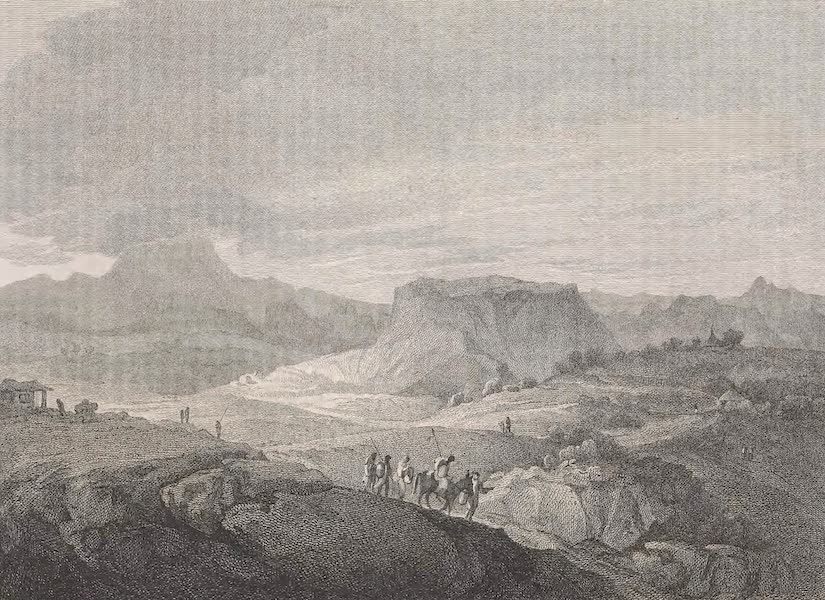A Voyage to Abyssinia - View of the Mountain of Devra Damo (1814)