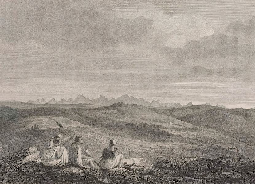 A Voyage to Abyssinia - Sketch of the Mountains of Adowa (1814)