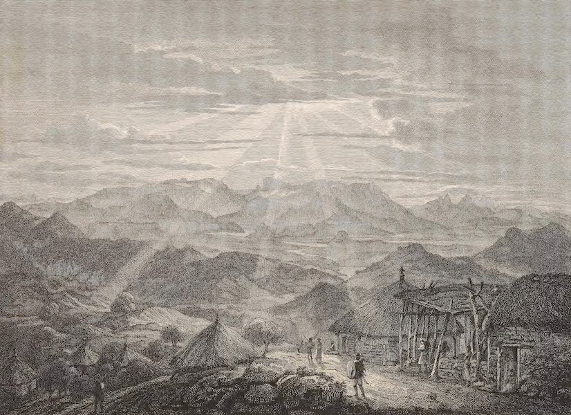A Voyage to Abyssinia - A View of the Mountains of Samen & the River Tacazze (1814)