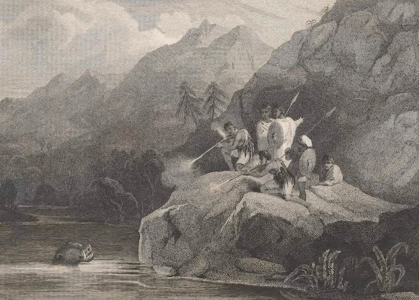 A Voyage to Abyssinia - View on the Banks of the Tacazze (1814)