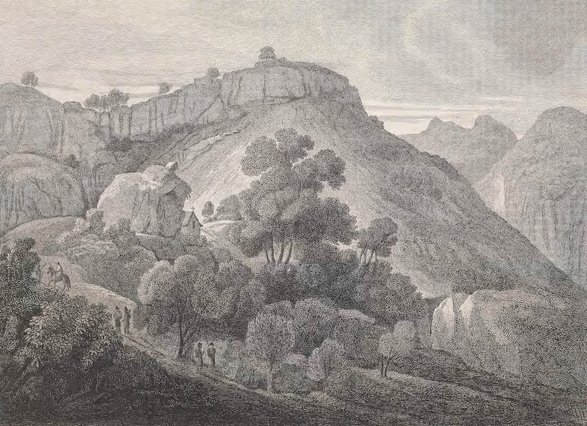 A Voyage to Abyssinia - Sketch of a Scene Half Way Down the Pass of Atrara (1814)