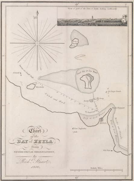 A Voyage to Abyssinia - Chart of the Bay of Zeyla (1814)