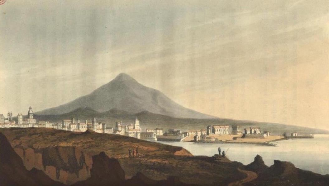 A Voyage to Cadiz and Gibraltar Vol. 1 - Catania & Etna from Biscari Garden (1815)