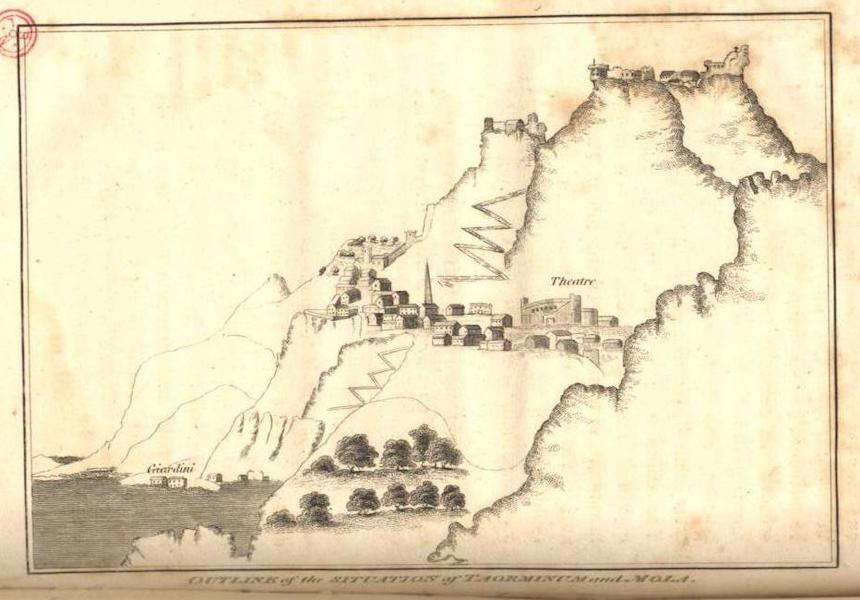 A Voyage to Cadiz and Gibraltar Vol. 1 - Outline of Situation at Taorminum and Mola (1815)