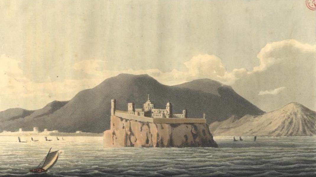 A Voyage to Cadiz and Gibraltar Vol. 1 - Castle of Lipari (1815)