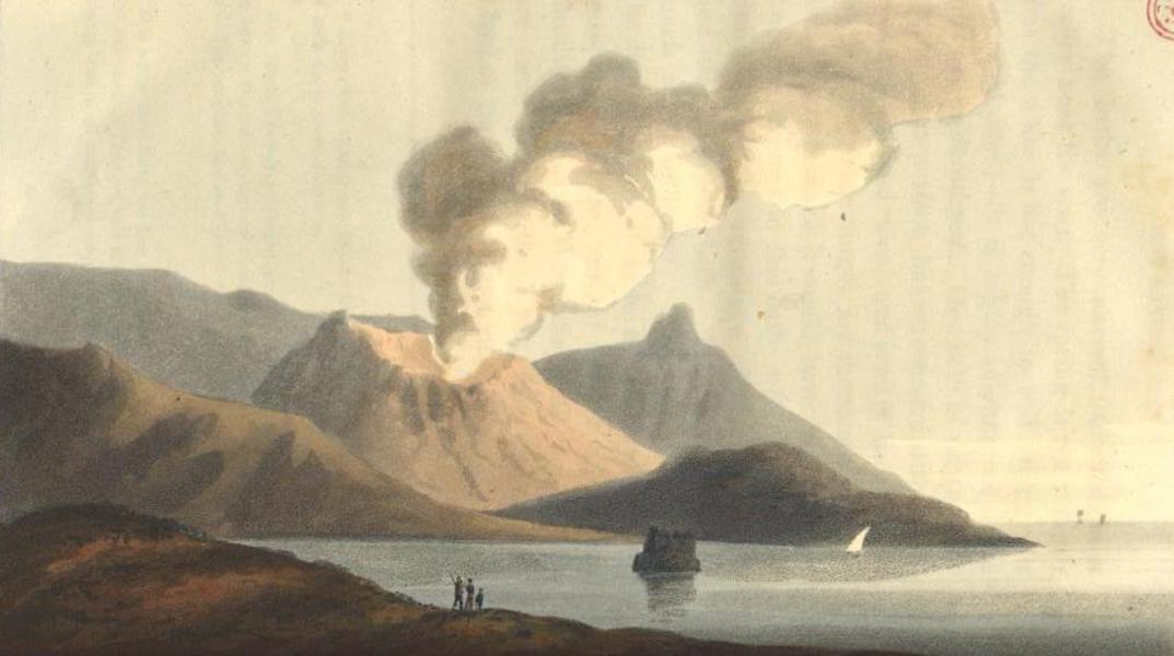 A Voyage to Cadiz and Gibraltar Vol. 1 - Volcano, from the Hill near the Ancient Baths at Lipari (1815)