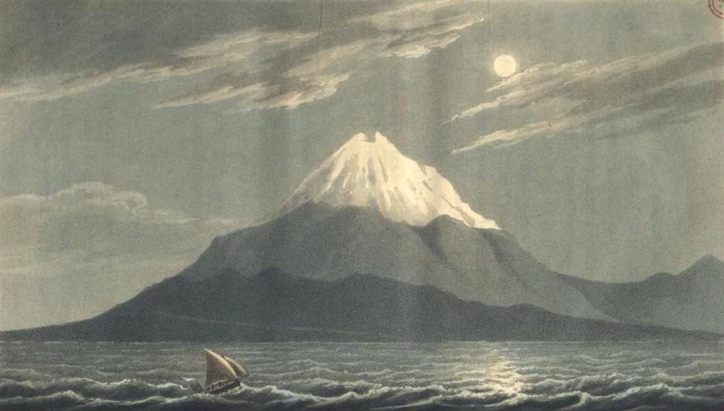 A Voyage to Cadiz and Gibraltar Vol. 1 - Winter view of Etna, from near Melazzo (1815)