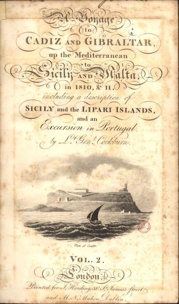 A Voyage to Cadiz and Gibraltar Vol. 2 - Title Page - View of Ceuta (1815)