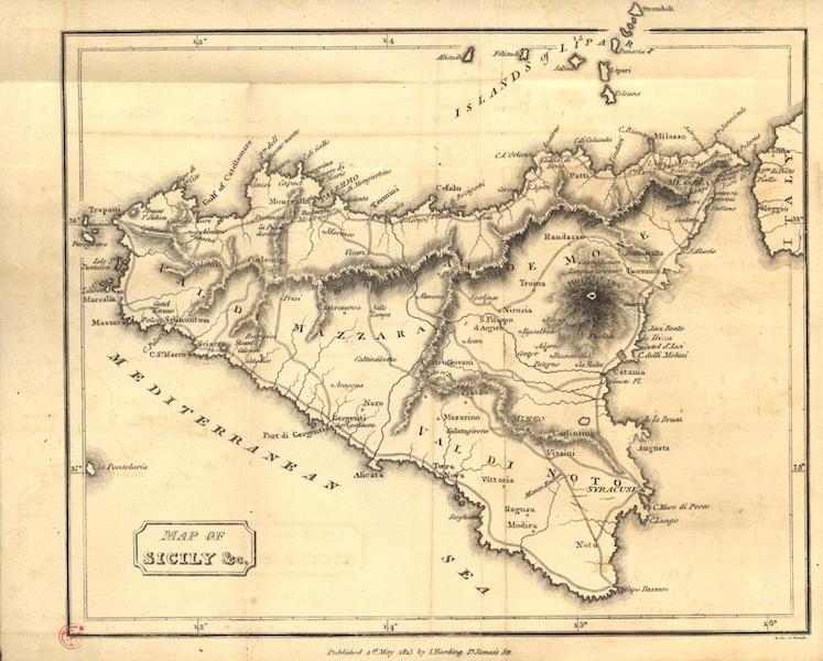 A Voyage to Cadiz and Gibraltar Vol. 2 - Map of Sicily (1815)