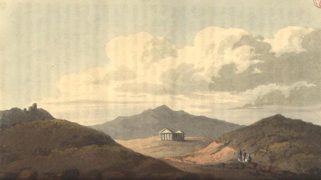 A Voyage to Cadiz and Gibraltar Vol. 2 - Distant View of the Ancient Temple of Segesta (1815)