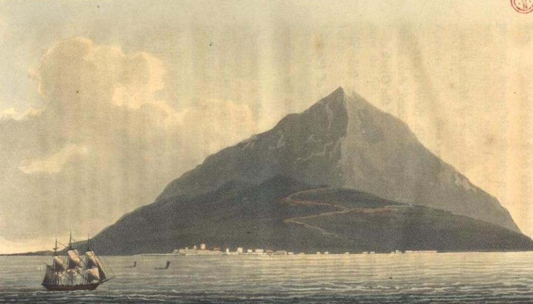 A Voyage to Cadiz and Gibraltar Vol. 2 - Distant view of Etna, from the Sea, opposite Catania (1815)