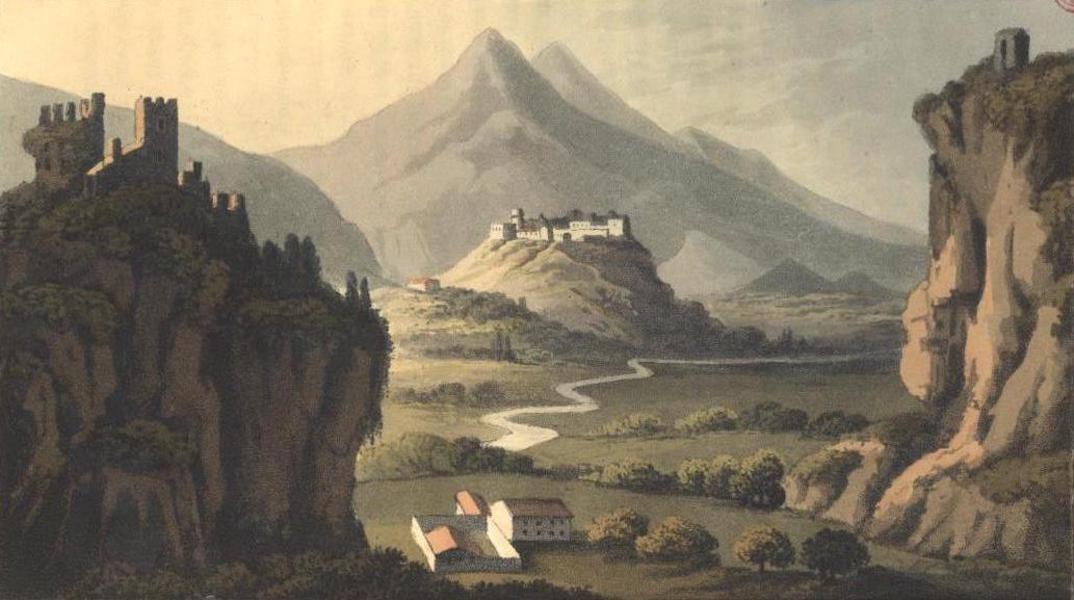 A Voyage to Cadiz and Gibraltar Vol. 2 - View of Castiglione from Villa Franca (1815)