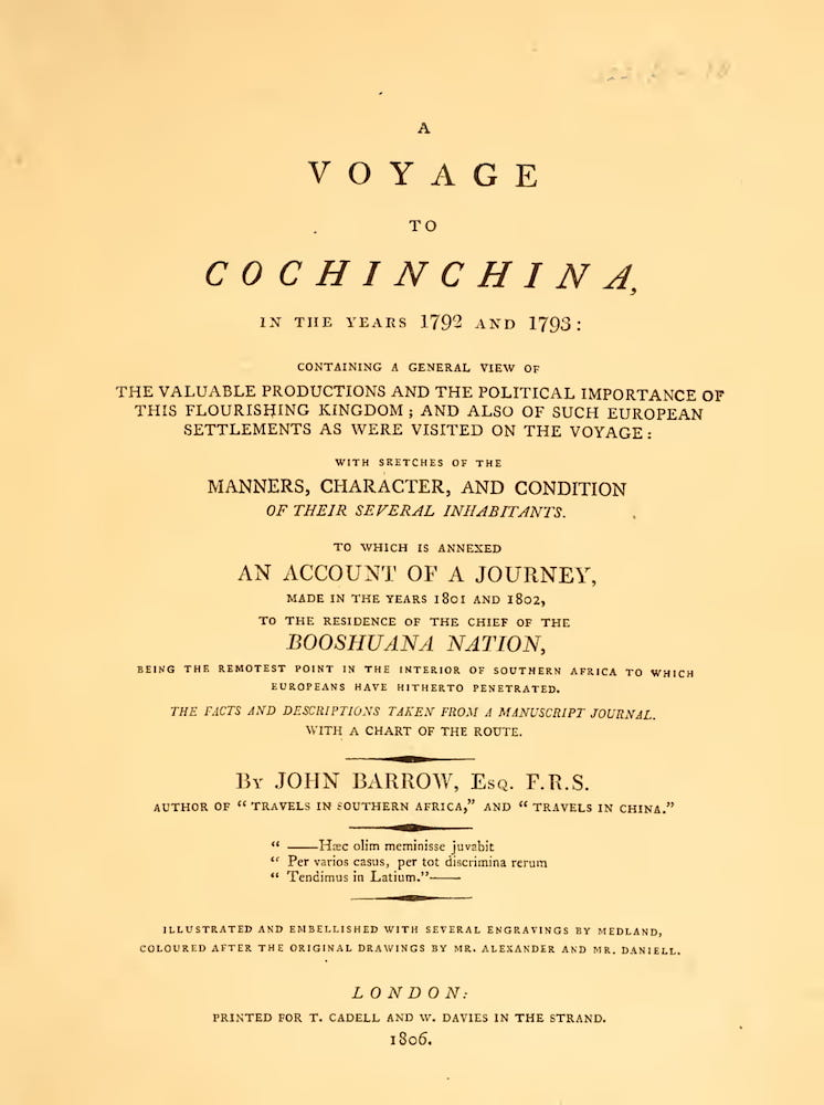 A Voyage to Cochinchina (1806)