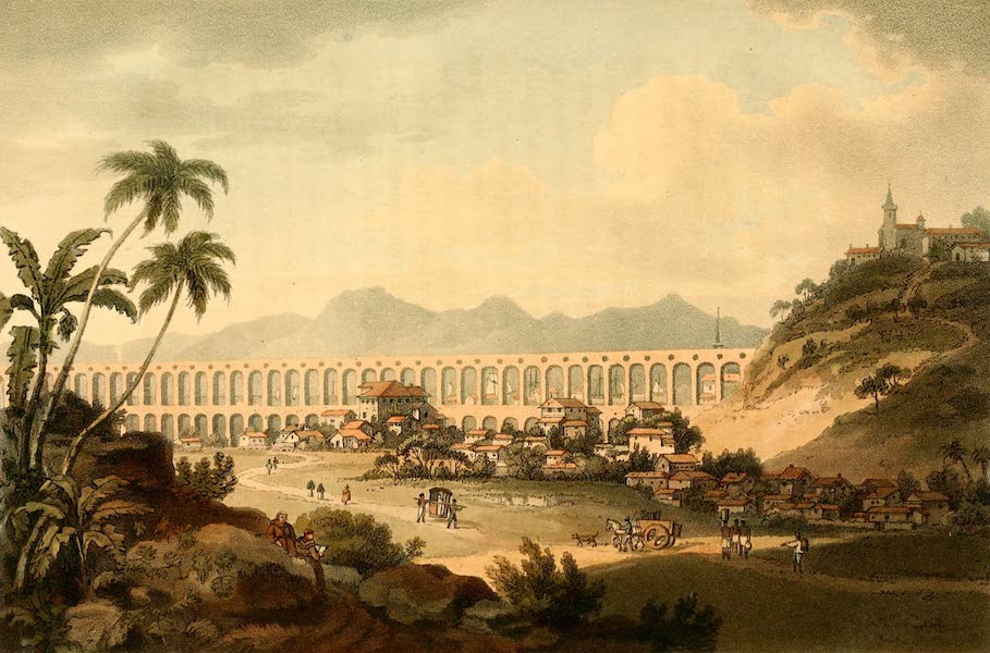 A Voyage to Cochinchina - Arcos de Carioco, or Grand Aquaduct in Rio de Janeiro (1806)