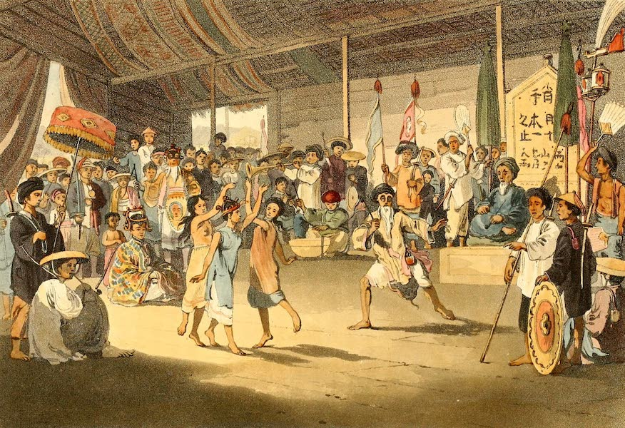 A Voyage to Cochinchina - Scene in a Cochin Chinese Opera (1806)