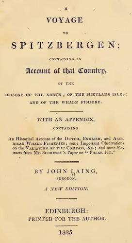 A Voyage to Spitzbergen (1825)