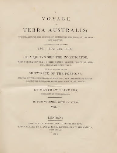 A Voyage to Terra Australis Vol. 1 (1814)