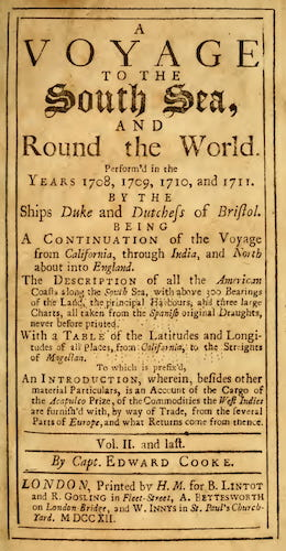 World - A Voyage to the South Sea, and Round the World Vol. 2