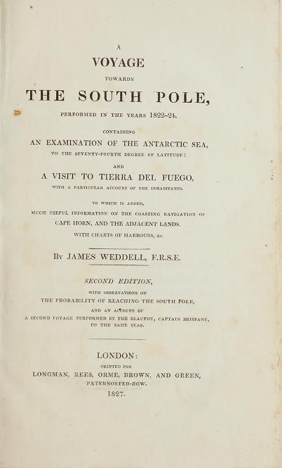 A Voyage Towards the South Pole (1827)