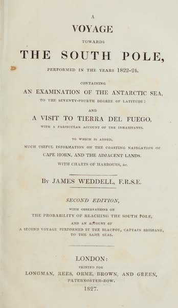 A Voyage Towards the South Pole - Title Page (1827)