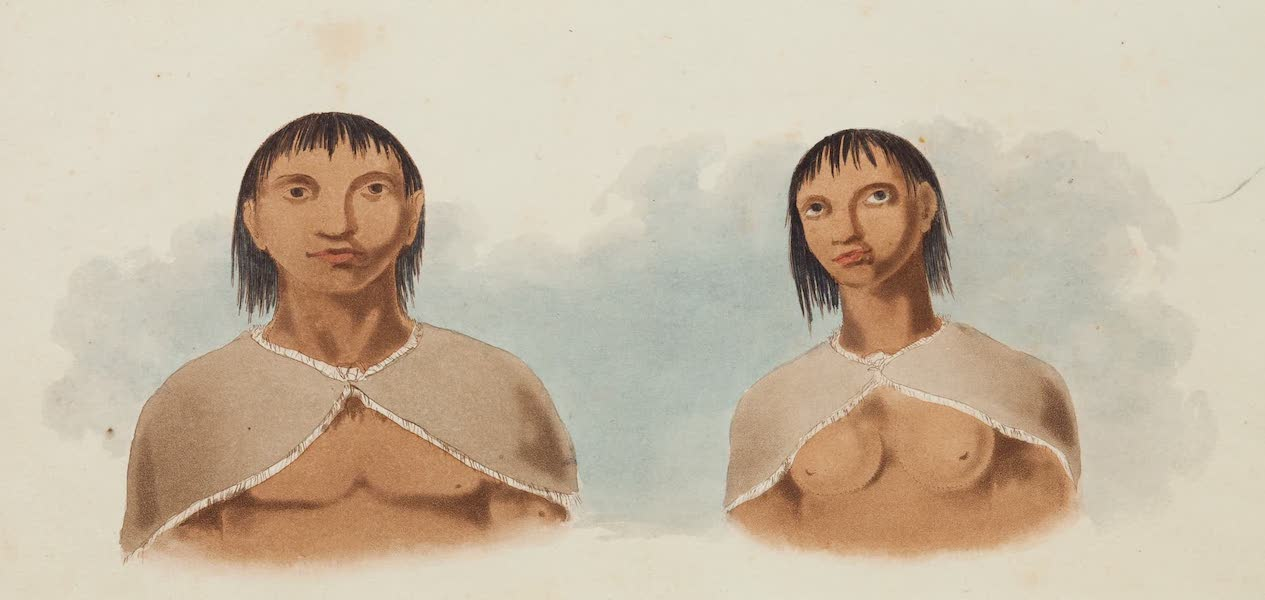 A Voyage Towards the South Pole - Man and Woman of Terra del Fuego (1827)