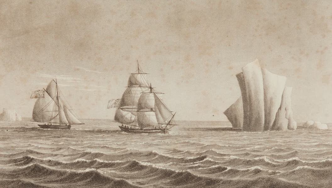 A Voyage Towards the South Pole - Brig Jane and Cutter Beaufoy in the Latitude of 75 15' South Returning Northward 20th, Feb. 1823 (1827)