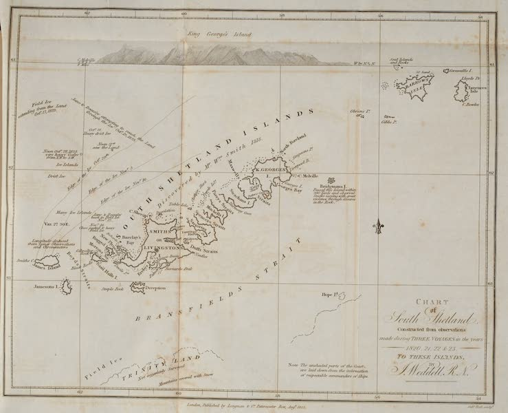 A Voyage Towards the South Pole - Chart of South Shetland (1827)