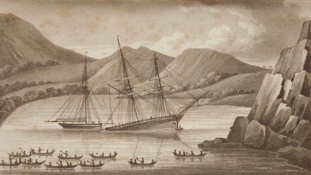 A Voyage Towards the South Pole - Brig Jane and Cutter Beaufoy in Indian Cove, Terra del Fuego (1827)
