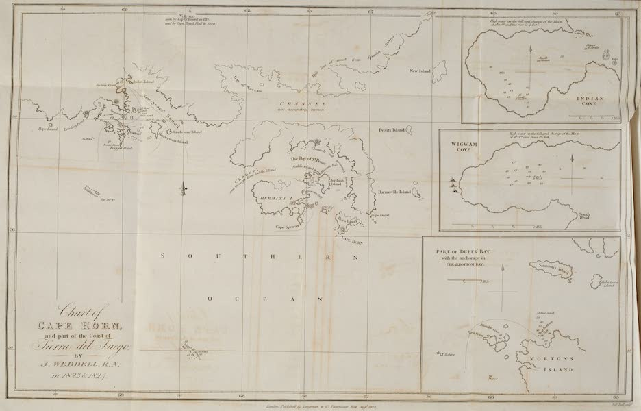 A Voyage Towards the South Pole - Chart of Cape Horn and Part of the Coast of Terra del Fuego (1827)