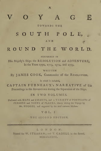 A Voyage Towards the South Pole Vol. 1 (1777)
