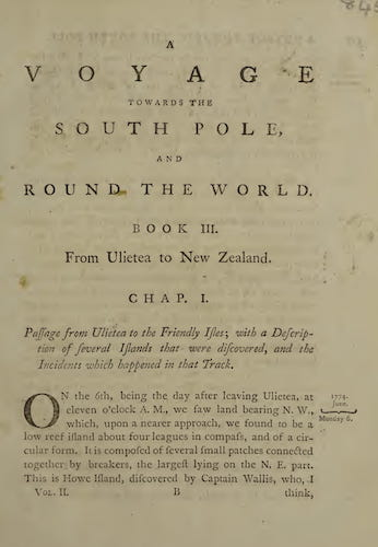 A Voyage Towards the South Pole Vol. 2 (1777)