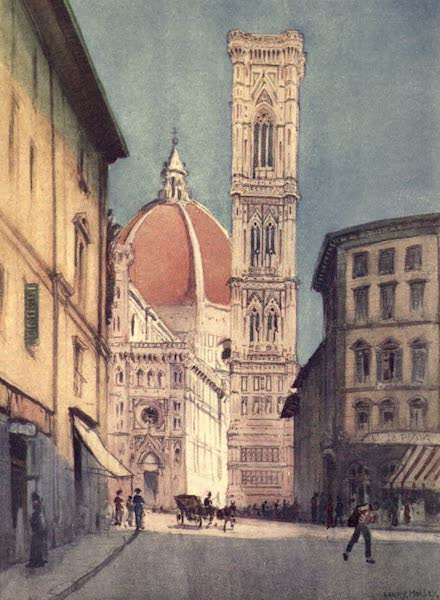 A Wanderer in Florence - The Duomo and Campanile, From the Via Pecori (1912)