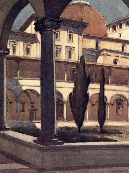 A Wanderer in Florence - The Cloisters of San Lorenzo, Showing the Windows of the Biblioteca Laurenziana (1912)