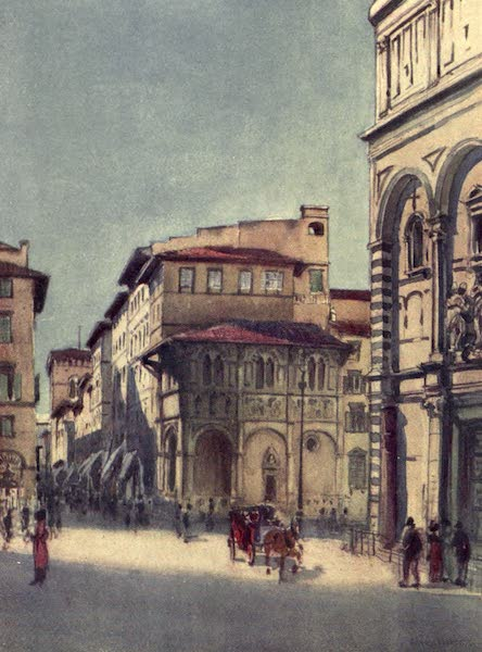 A Wanderer in Florence - The Via Calzaioli, from the Baptistery, Showing the Bigallo and the Top of Or San Michele (1912)