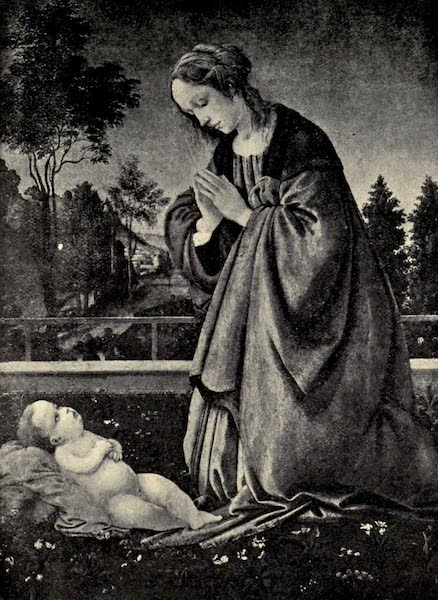 A Wanderer in Florence - Madonna Adoring. Ascribed to Filippino Lippi, in the Uffizi (1912)