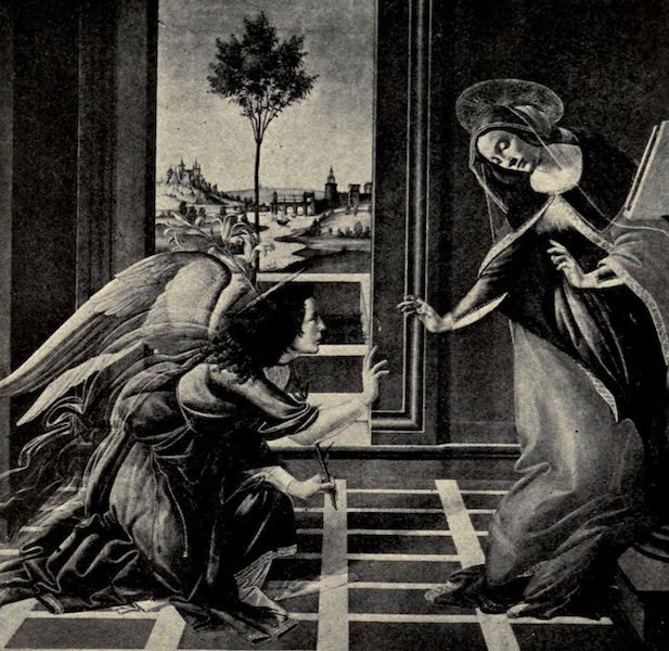 A Wanderer in Florence - The Annunciation. Botticelli, in the Uffizi (1912)
