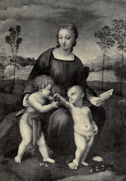 A Wanderer in Florence - The Madonna del Cardellino. Raphael, in the Uffizi (1912)