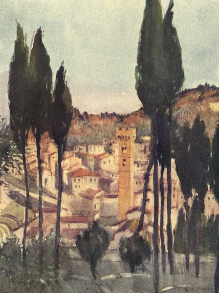 A Wanderer in Florence - Fiesole, from the Hill under the Monastery (1912)
