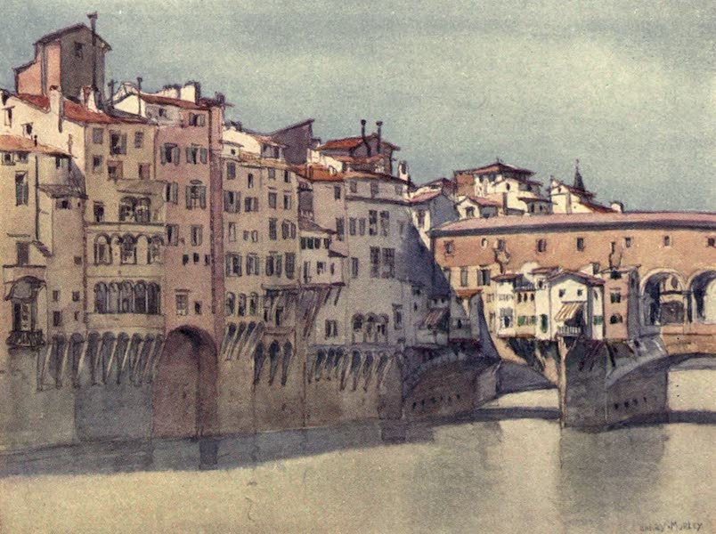 A Wanderer in Florence - The Ponte Vecchio and Back of the Via de' Bardi (1912)