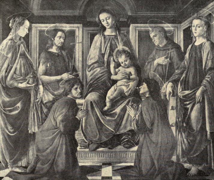 A Wanderer in Florence - Virgin and Child Enthroned, with Saints. Botticelli, in the Accademia (1912)