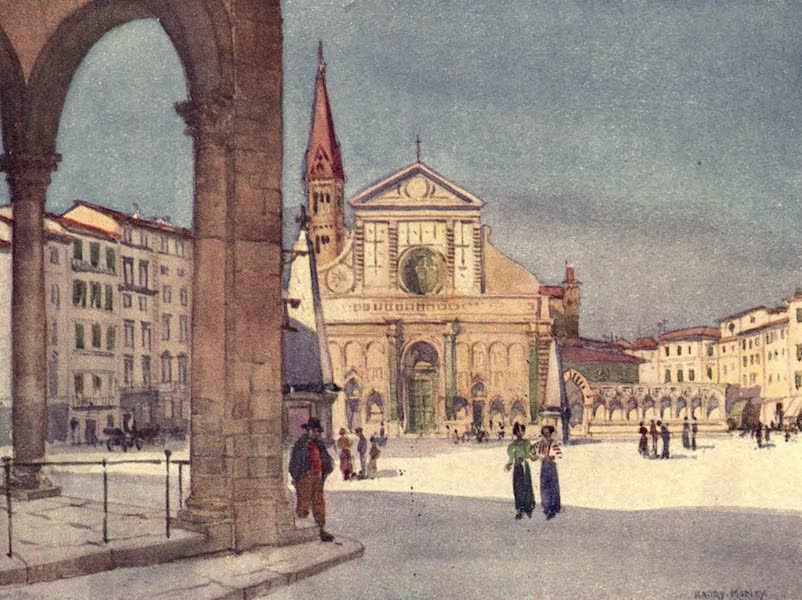 A Wanderer in Florence - S. Maria Novella and the Corner of the Loggia di S. Paolo (1912)