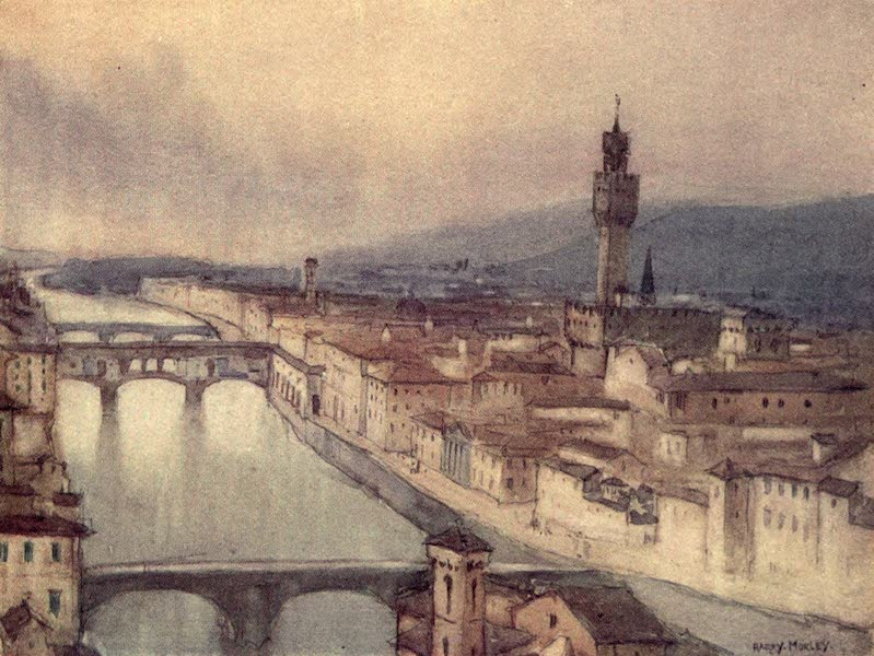 A Wanderer in Florence - View of Florence at Evening, from the Piazzale Michelangelo (1912)