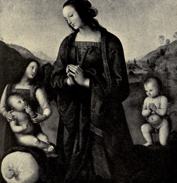 A Wanderer in Florence - The Madonna and Children. Perugino, in the Pitti (1912)