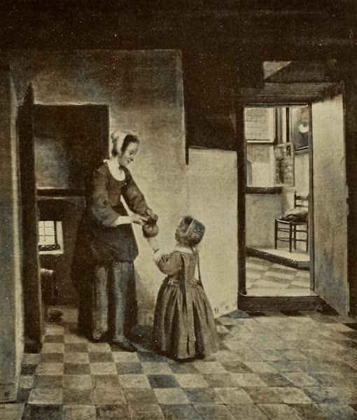A Wanderer in Holland - The Store Cupboard. Peter de Hooch (Ryks) From a Photograph by Franz Hanfstaengl (1905)